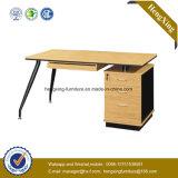목제 곡물 워크 스테이션 금속 다리 컴퓨터 테이블 (HX_0165)