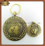 Enamel sintetico con Printing Silver Metal Key Chain Keychain (JINJU16-022)