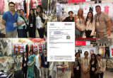 Frauen lösen halbes Hülsen-Häkelarbeit Chiffion T-Shirt