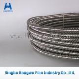 Tuyau flexible ondulé de pipe d'acier inoxydable en métal