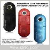 Altofalante/Speakerphone sem fio de Bluetooth V3.0 do carro Handsfree Multipoint
