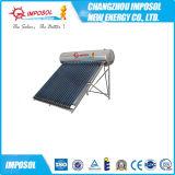 Calefator de água quente solar não integrado do aço inoxidável da pressão
