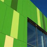 Panneau en aluminium vert en bambou de nid d'abeilles pour la façade en aluminium