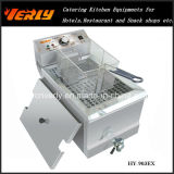 Sale caldo Commercial Desktop Electric Fryer, French Fries & Potato Chips Fryer con un Oil Valve, 1 Tank 1 Basket, CE Approved (HY-901EX)