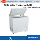 138 angeschaltene Solartiefkühltruhe, Gefriermaschine Gleichstrom-12V, Solargefriermaschine
