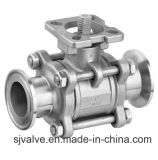 Steel inoxidable 3-PC Clamp Ball Valve