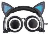 Écouteur 2016 de câble rougeoyant d'ordinateur d'oreille de chat de dessin animé sans microphone Lx-L107