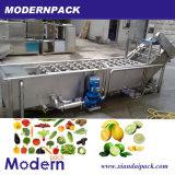 Linha de lavagem surfando máquina da fruta vegetal da limpeza