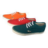 Segeltuch-Gummi-Schuhe der grundlegenden kundenspezifischen Frauen