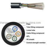 Precio al aire libre trenzado base multi del cable óptico de fibra del cable acorazado flojo G652D GYTA/S del tubo del cable óptico de fibra del precio de fábrica de China