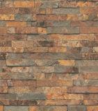 Papel de parede Washable do tijolo 3D do vinil do PVC do hotel por atacado (S-20031)
