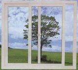 بلاستيكيّة ينزلق [بفك] نافذة مع مزدوجة يزجّج زجاجيّة [أوبفك] نافذة