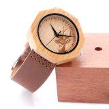환경 보호 일본 새로운 운동 나무로 되는 형식 시계 Bg451