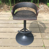 Black Outdoor Swivel Dining Garden Patio Tabouret de bar en rotin (FS-R002)
