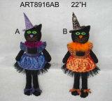 """22 """" украшение черного кота Sitter-2asst-Halloween h"""