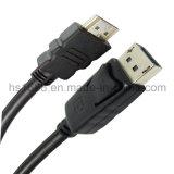 Hoge snelheid Displayport aan Kabel HDMI M/M met Goud Geplateerde Schakelaar