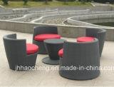Muebles al aire libre del jardín de la rota del florero