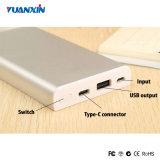 Тип-C быстрый поручая портативный крен USB батареи Li-Полимера силы с RoHS