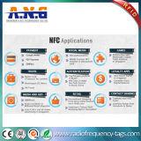 PVCカスタムNFCステッカーは付着力の受動のプログラム可能なRFIDの札に付ける