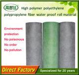 Membrana impermeable del alto polímero de la variedad del polipropileno completo del polietileno
