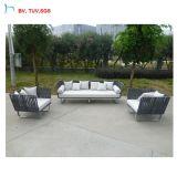 Sofà moderno del rattan del PE del giardino del patio della C-Nuova di disegno mobilia esterna di Foshan
