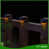 Lumière solaire extérieure de frontière de sécurité de lampe de mur de jardin de DEL