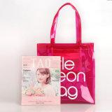 2 tamanhos Waterproof PVC dos doces da geléia colorida Tote Bag Mulheres