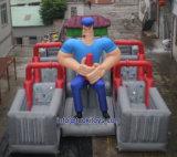 障害おもちゃ(B095)が付いている屋外の膨脹可能な水スライド
