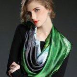 Form und künstlerischer gedruckter großer quadratischer Silk Schal
