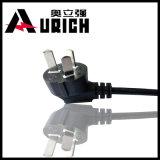 Fiche électrique ronde de 2 bornes avec le ccc et le cordon d'alimentation AC de 10A 250V