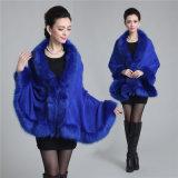 Châle tricoté acrylique de l'hiver de fourrure de jacquard de Madame Fashion Paisley (YKY4461)