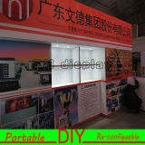 Crear la cabina de acrílico los 3X3m estándar reutilizable modular portable de la visualización para requisitos particulares de la exposición