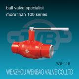 GOST Todos soldada puerto estándar de acero Válvula de bola DN50