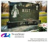 Tipo pietra tombale dritta del granito di religione, Headstone di European&Amercian