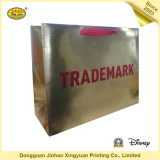 Sac de papier de estampage chaud de cadeau d'or/sac à provisions/sac de cadeau (JHXY-PB1604112)