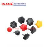 Plastic Colourful Knobs con Metal Insert Nut o Threade Bolt