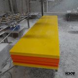 Superficie solida acrilica di colore giallo di pietra di marmo artificiale di prezzi di Kingkonree