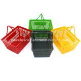 Panier à main bon marché de haute qualité pour les achats en plastique avec poignées