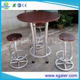 Festes Wood Bar Table und Aluminum Structure Bar Chair mit Cheap Price