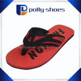 Mens flip flop sandalias tamaño 9 Verde de la correa de goma roja