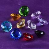 40mm colorido al por mayor pisapapeles cristalino grabado en forma de diamante personalizada