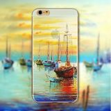Overweldigend SOFT TPU van Senery Painted voor Apple iPhone 5 5s 6 6smobile Phone Back Skin Cases Cover