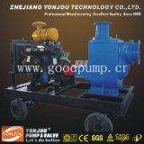 Bomba de motor diesel con remolque / Diesel auto-cebador No obstruye el conjunto de bomba de aguas residuales / bomba de manguera / bomba de agua