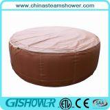 De Ton van het KUUROORD van de Inflatable Draaikolk van de Familie (Grijs/Bruine pH050010)