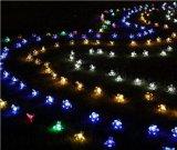 クリスマスの結婚式新し年LhSs01の太陽エネルギー50LEDストリングライトモモの花