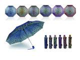 장신구 인쇄 Foldable 질 자동적인 우산 (YS-3FA22083964R)
