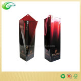 Rectángulos acanalados impresos aduana caliente del vino de Carboard para la sola botella (CKT-PB-007)