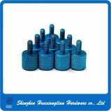 Цвет OEM анодируя пальцевой винт алюминия 4-40 6-32 Knurled