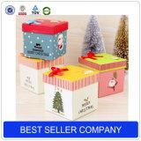 Rectángulo de regalo de encargo al por mayor del papel del diseño de la manera que empaqueta, rectángulo de regalo de la Navidad