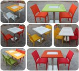 Tabella lucida di superficie solida del ristorante della mobilia del ristorante
